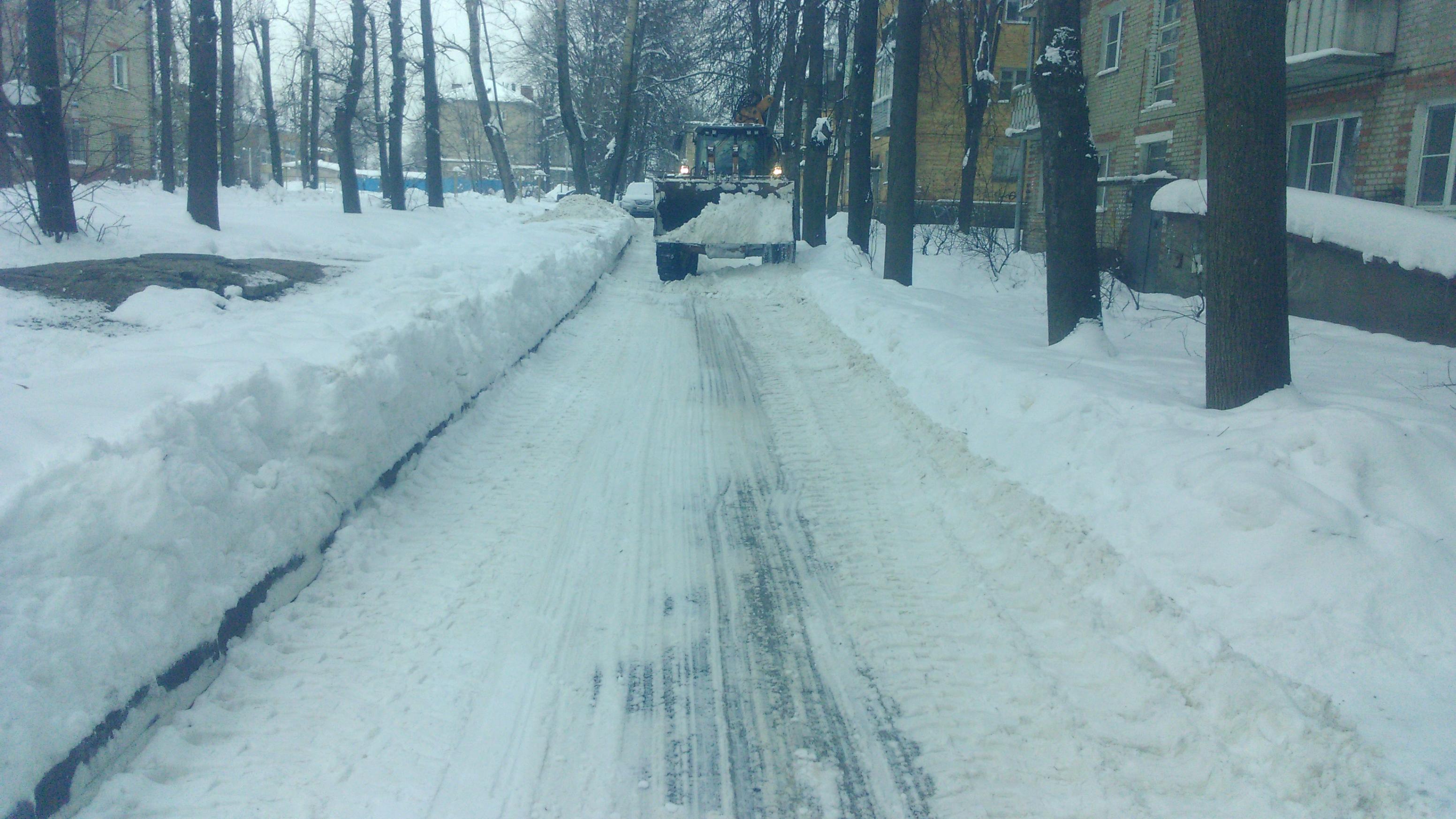 Услуга механизированная уборка снега